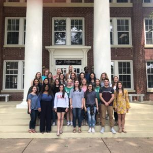 dietetics students on steps of Cone Bottoms