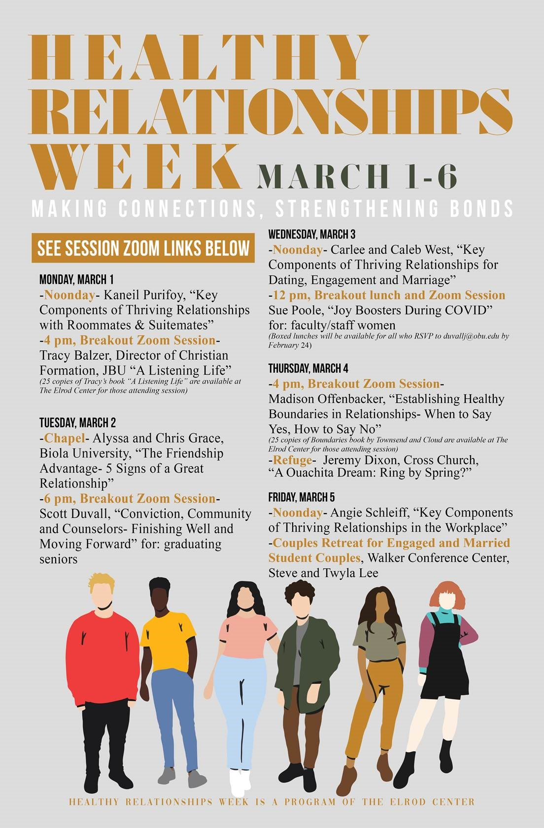 Healthy Relationships Week 2021 Schedule