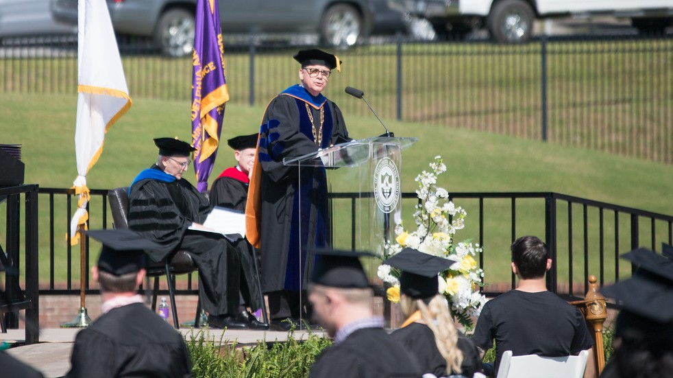 President Ben Sells gives 2021 Commencement address